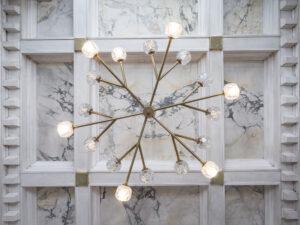 detail of chandelier lighting