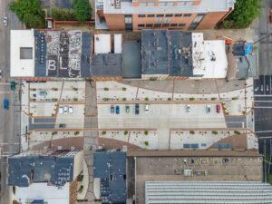 aerial view of Court Street in Cincinnati