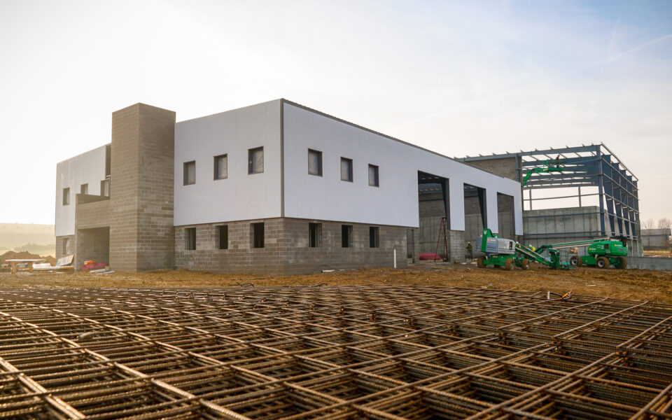 construction of waste transfer facility