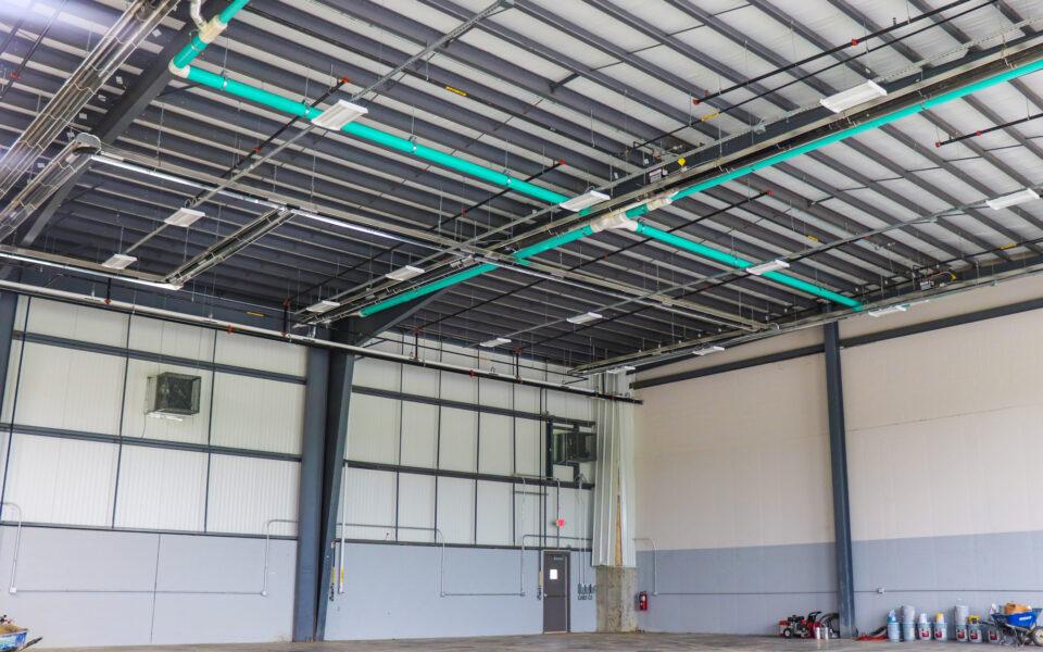 interior of new waste transfer facility