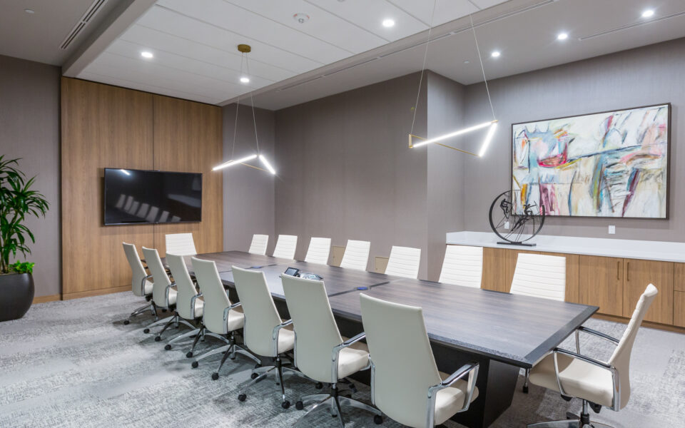 interior of Tisdel Distributing offices, conference room