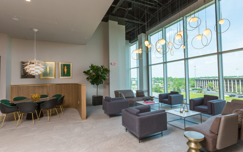 interior of Tisdel showroom, high-end display living space