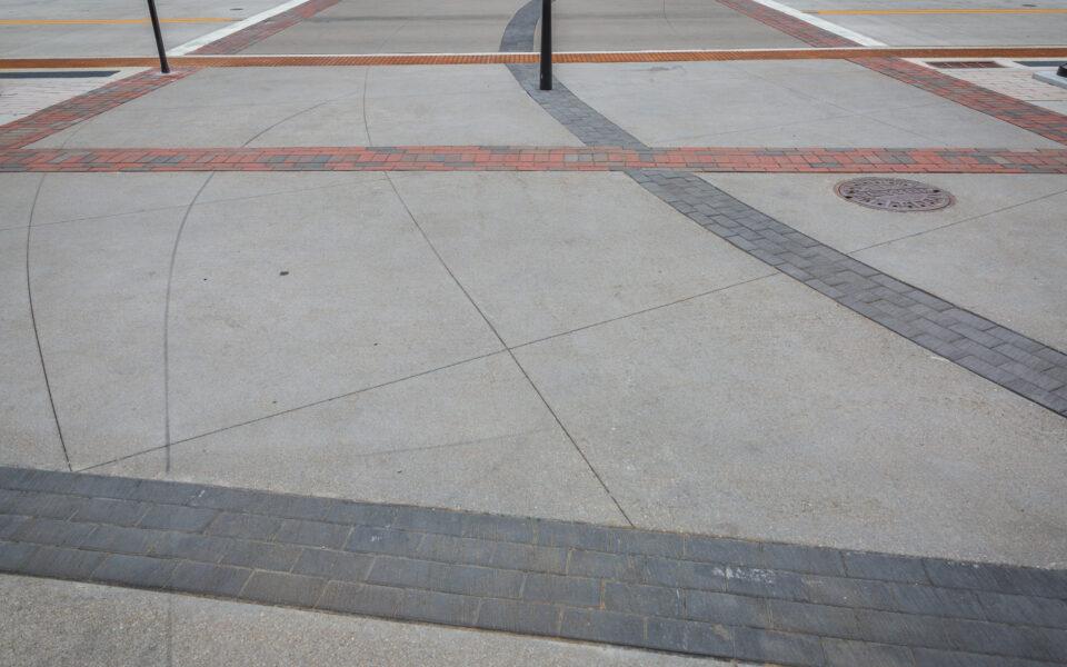 detailed brickwork on Court Street sidewalks