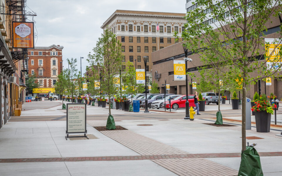 Increased sidewalk space for vendors
