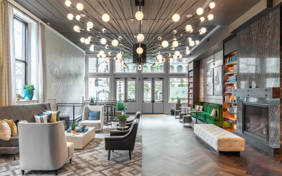 Stunning lobby after the Grady Hotel renovation