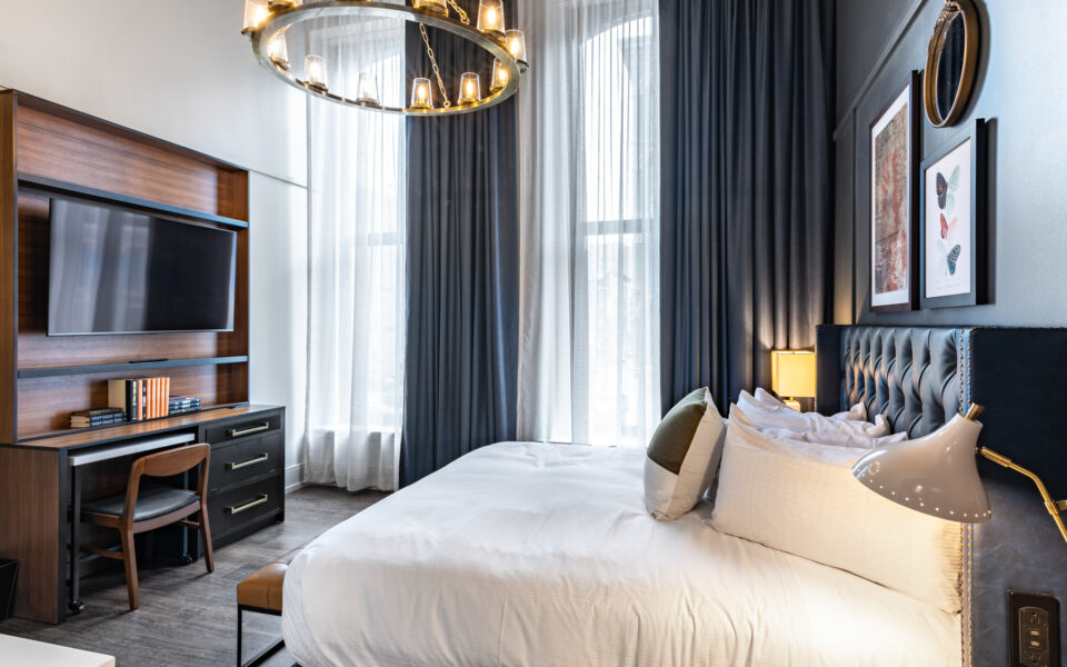 interior of guest rooms at Grady Hotel