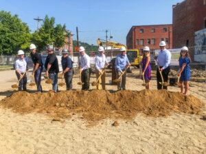 HGC Construction team at LPH Thrives groundbreaking