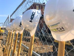 LPH Thrives Groundbreaking hard hats