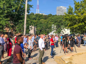 crowd at LPH Thrives groundbreaking