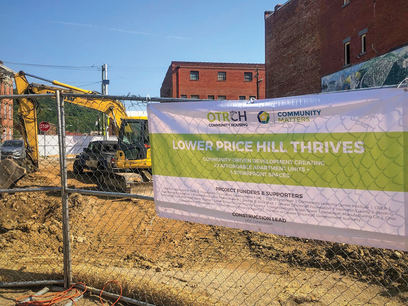 site signage at LPH Thrives job site