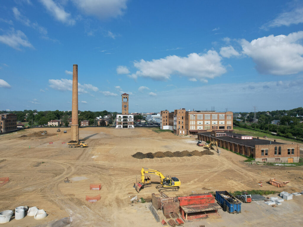 wide view of Factory 52 job site