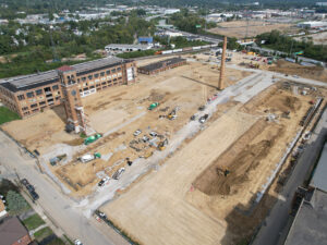 aerial of site work on October 13, 2021
