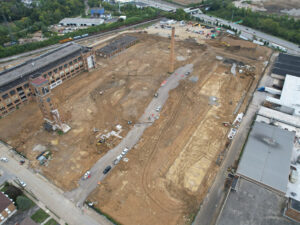 aerial of site work on October 6, 2021